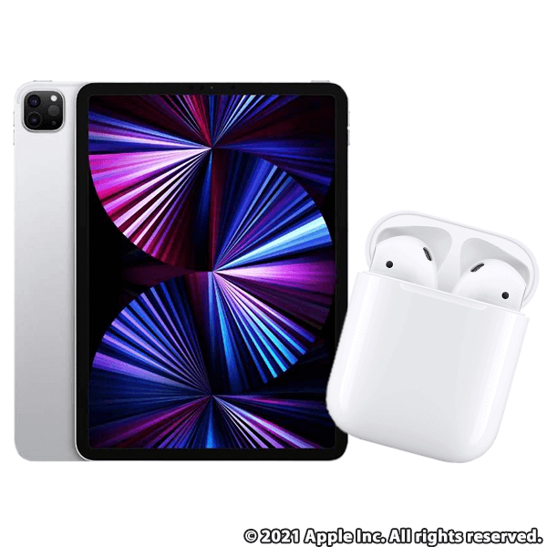 iPad Pro 11インチ Wi-Fi 128GB シルバー MHQT3J/A  + Apple AirPods with Charging Case