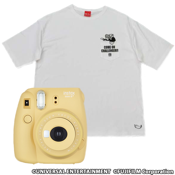 【デザインポケットTシャツ】クランキーコレクション XL+チェキ instax mini 8(ハニー)