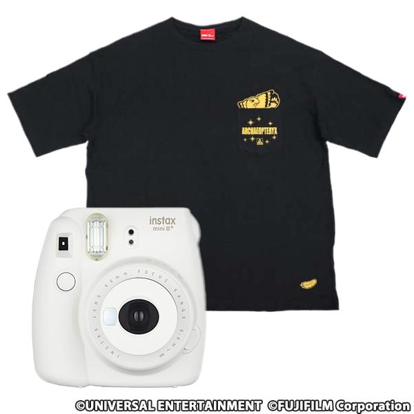 【デザインポケットTシャツ】アレックスXL+チェキ instax mini 8(バニラ)